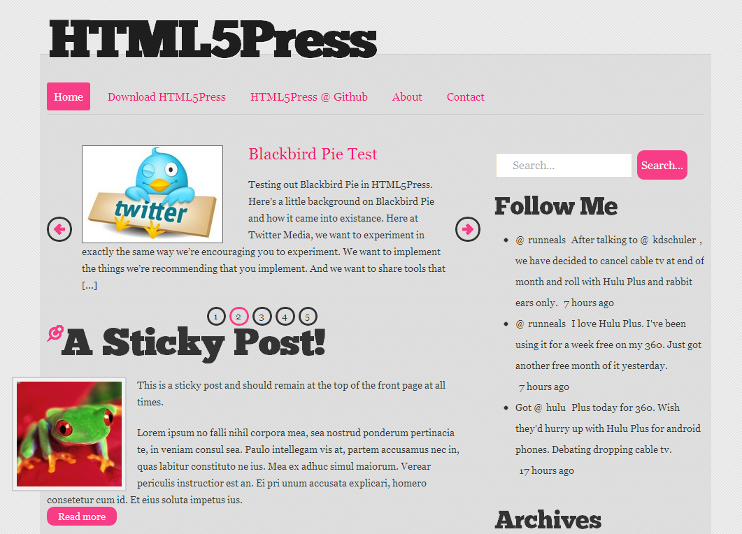 HTML5Press Featured Posts